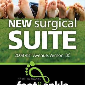 North Okanagan Foot and Ankle Newspaper Ad